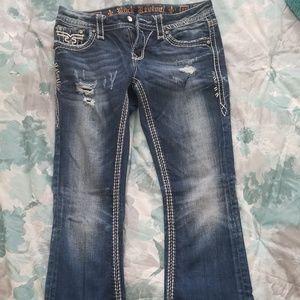 Rock Revival distressed, embellished jeans